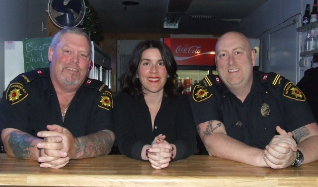 Natasha MacLellan with Alan Heckert (left) and Shane Willigar (right)