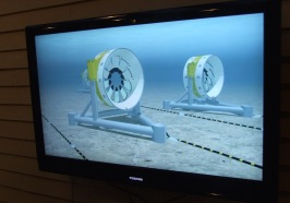 TV footage of OpenHydro turbines