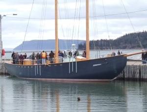 The Katie Belle at Parrsboro's wharf
