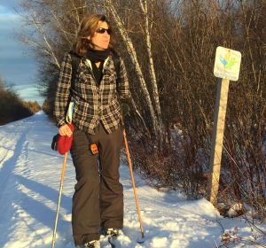 Dianne Whelan on TransCanada Trail in New Brunswick. Photo: Ann Verrall