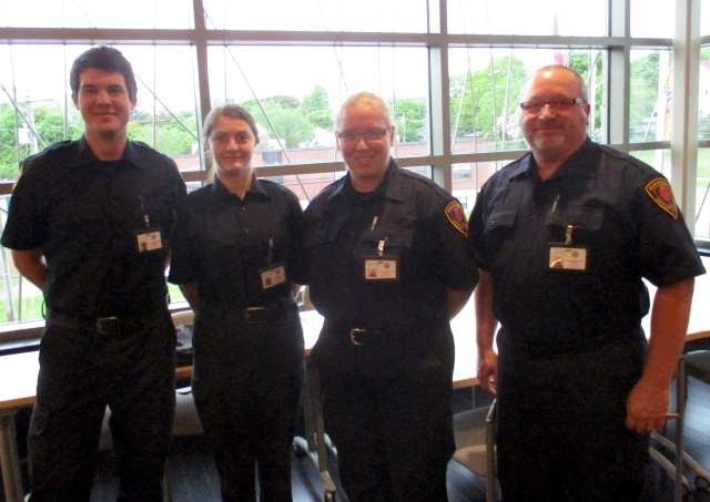 Sackville bylaw enforcement officers: L-R: Ryan Whitton, Jackie Lawless, Jessica Mitton, Brian Bell